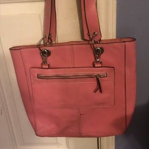 Handbags - Pink Faux Leather Tote